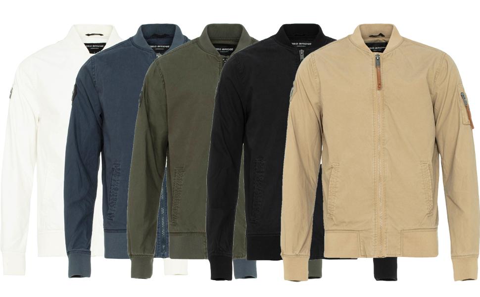 Chaqueta de entretiempo para hombre, estilo aviador, color negro, blanco, azul, verde, caqui, beige
