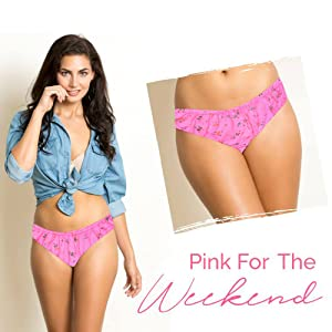 Floral panty Women underwear Comfortable Soft and easy Lightweight cotton pink
