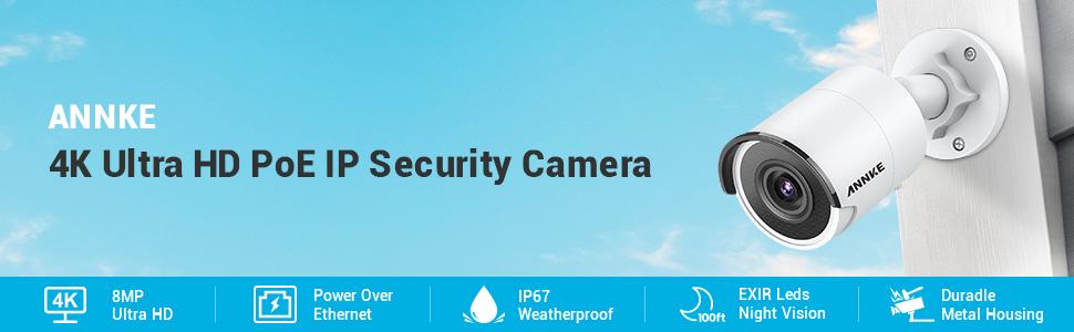 4K POE IP Security Camera