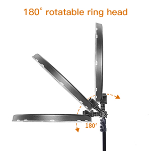 18'' ring light ring light with light stand tripod stand phone holder 79'' light stand light ring