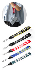 Soft and smooth against skin, twill nylon wrist strap for electronic devices, etc.