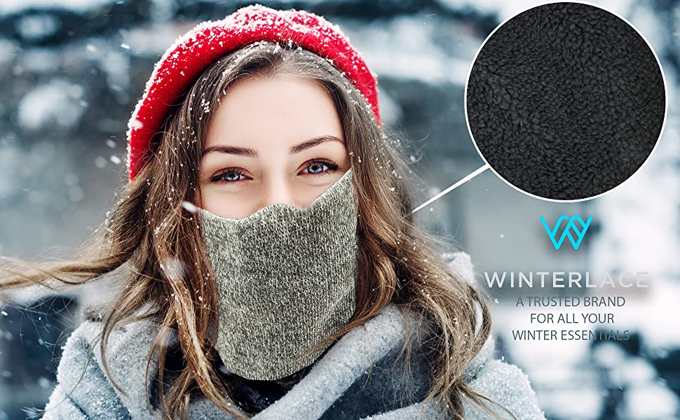 Schlauchschal Herren,Halsw/ärmer Warm Arch Enemy Winter Neck Warmer Unisex Thermal Fleece Neck Gaiter Tube Windproof Face For Cold Weather