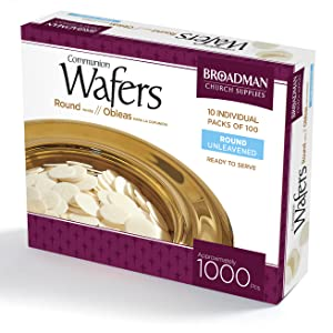 Broadman Church Supplies Communion Wafer Cross Design 1 000 Count Broadman Press Amazon Com Grocery Gourmet Food