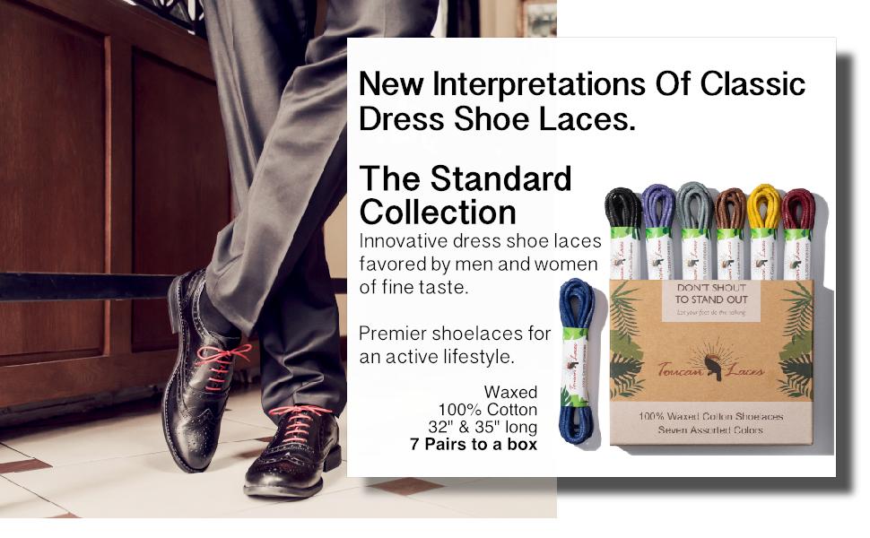 Toucan Laces 7 Pairs Dress Shoe Laces