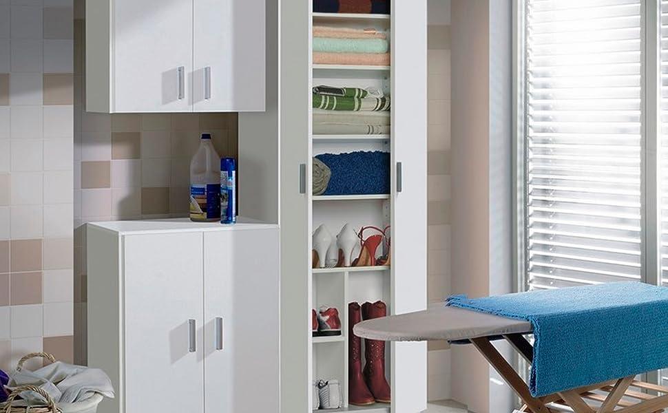 Habitdesign 007141O - Mueble Armario Multiusos, 1 Puerta, Color ...