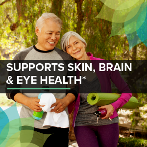 supports skin, brain & eye health