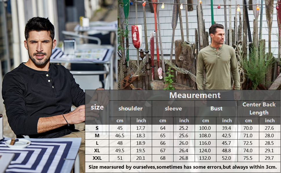 henley shirts for men pullover tees loose casual tops