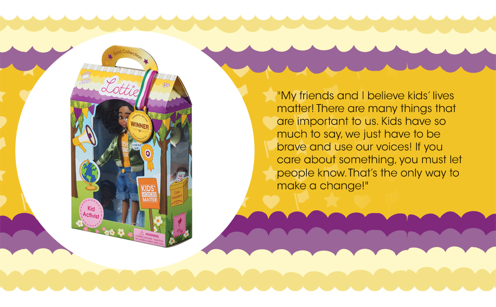 Lottie Dolls Kid Activist Doll Perfect Toy for Girls and Boys