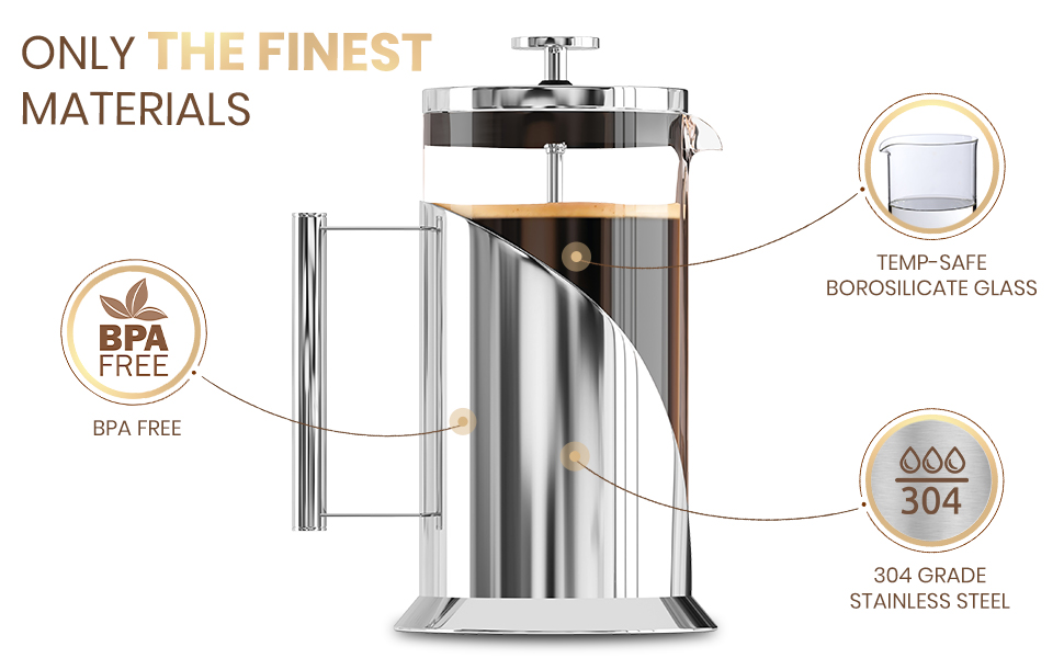 Cafe du Chateau French Press - ONLY The Finest Materials