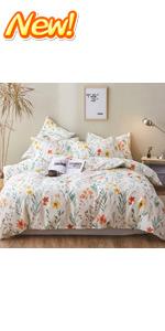 Flower Pattern Duvet Cover Set