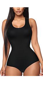 Shapewear Bodysuit Scoop Neck Tank Tops Women Seamless