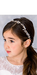 Opal Flower Girl Headband