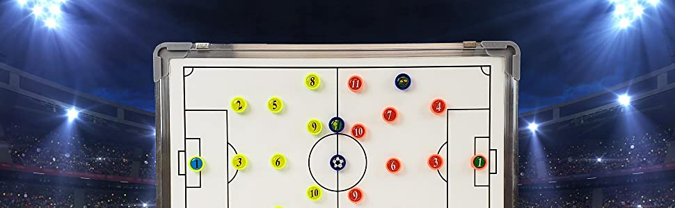 Murray Sporting Goods Magnetic Soccer Coaches Dry Erase Marker Board