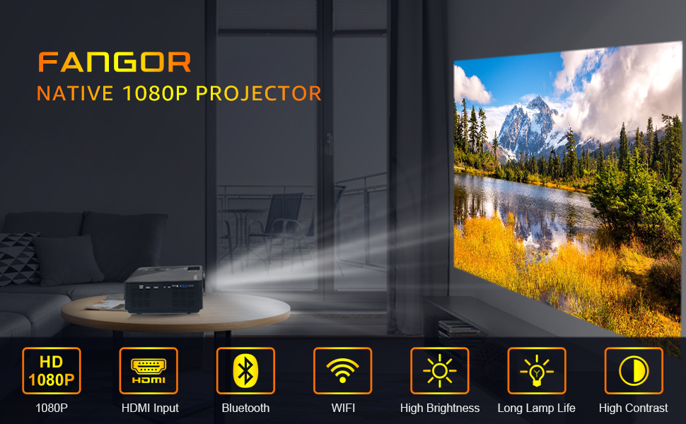 Fangor 1080P wifi projector