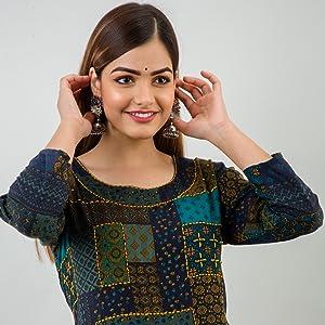 Rayon Anarkali Kurti For Women Party Wear