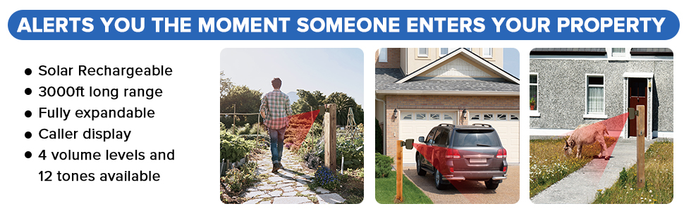 Alerts you the moment someone enters your property