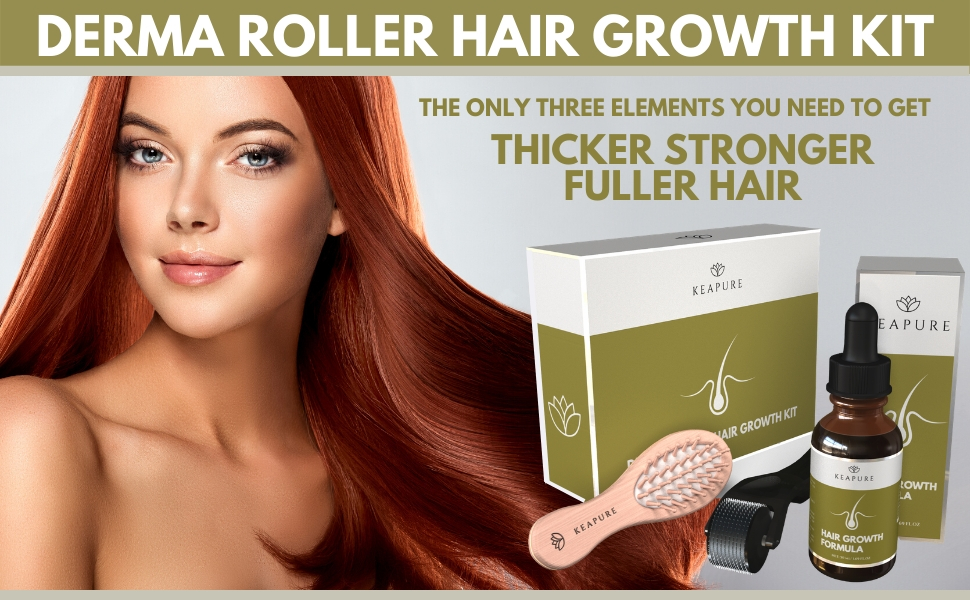 Derma Roller Hair Growth Kit complete set