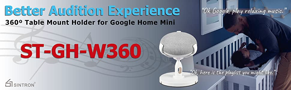 Sintron Table Holder For Google Home Mini & Google Nest Mini