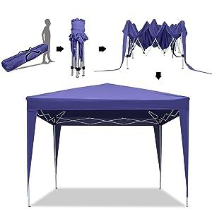 YUEBO Gazebo 3x3 m Carpas Plegables Impermeables Pergola Plegable ...