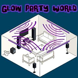 Black lights for large room glow party LED strip kit glowave