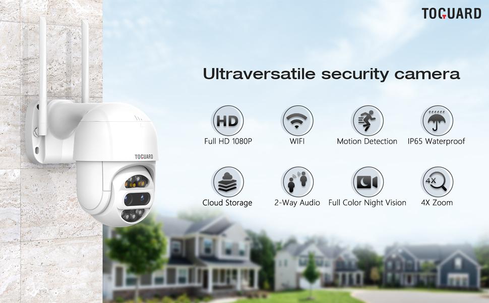 ptz security camera outdoor wireless wifi camera 1080p
