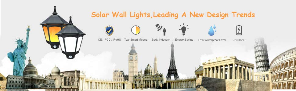 ALOVECO SOLAR WALL LIGHTS