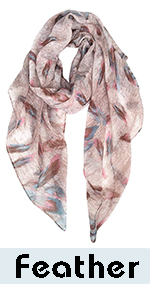 Colorful Feathers Scarf