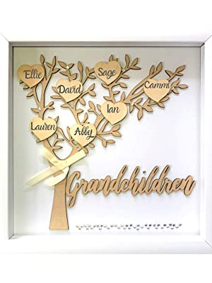 Grandclhildren shadow box for christmas anniversary birthday present grandma grandpa grandparents