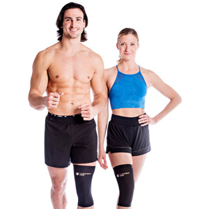 Compression knee sleeve and brace for Running jogging jumping walking working out weight lifting