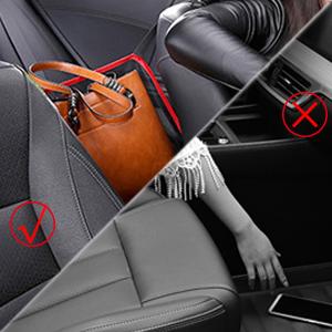 car net pocket handbag holder black car seat storage mesh organizer