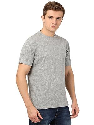 Grey plain solid tshirt for man bio wash fabric