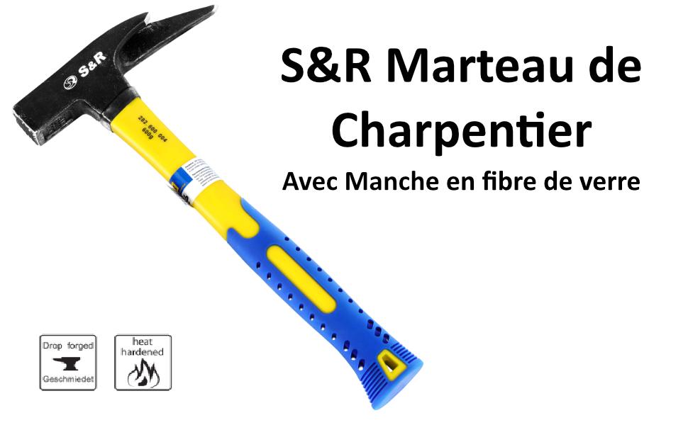 2 PCS Set Latthammer /& Maçon Marteau chambre Manns MARTEAU hammer maçon marteaux