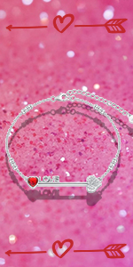 Bow and Arrow Love Anklet Bracelet