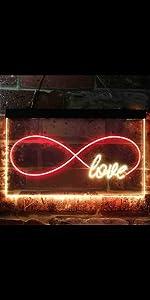 ADVPRO LED Neon sign light-ing Dual-color Love Lovers Valentine heart sweet Eternal Forever Infinity
