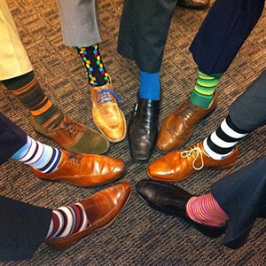 Colorful Pattern Stripe Patterned Dress Socks Office Socks