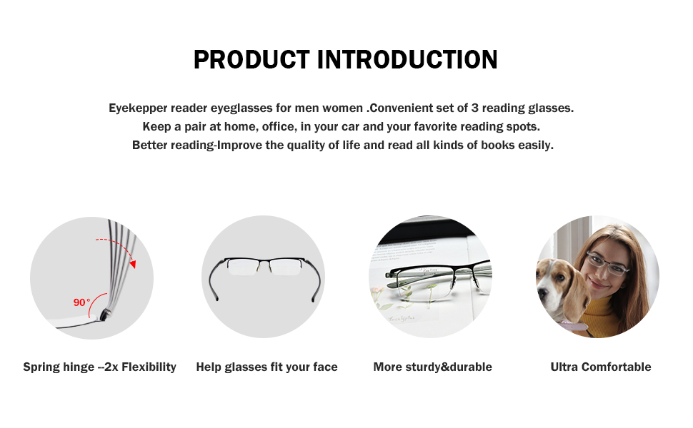 Eyekepper Convenient Set of 3 Reading Glasses