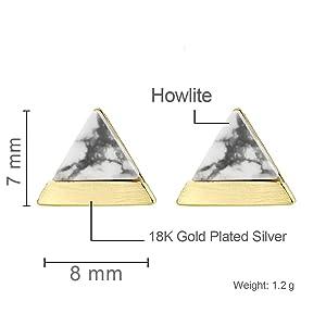 dainty howlite earrings