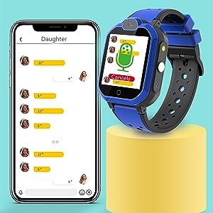 Themoemoe Kids Smartwatch, Kids GPS Tracker Watch Kids Waterproof Smart Watch Phone GPS Tracker
