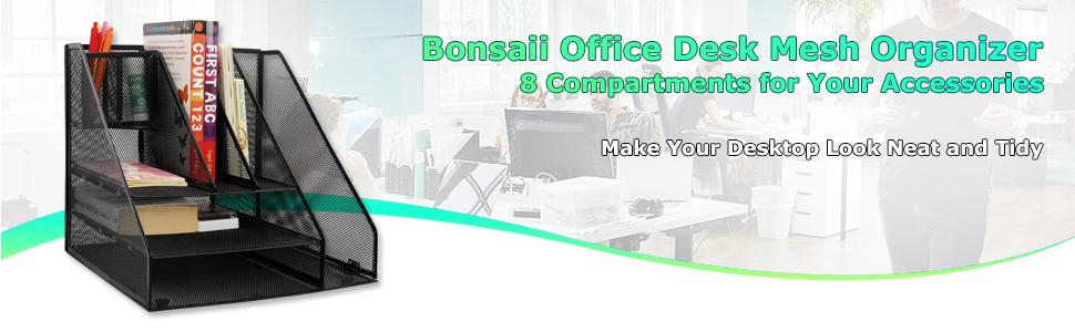 Organizador de escritorio para suministros de oficina