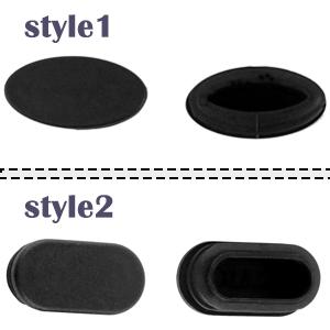 sourcing map 40 STK Tisch Stuhl F/ü/ße Kunststoff Ovale Rohr Einsatzf/ügen Kappe schwarz 20 x 40 mm DE de