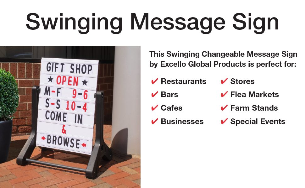 Swinging Message Sign