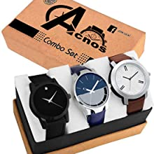 Acnos Men's Analog Watch Combo