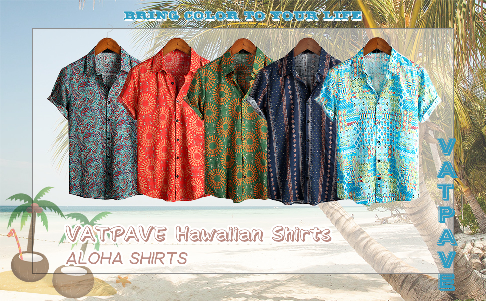 Beach Shirts Mens Hawaiian Shirts