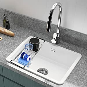 Sponge holder for kitchen sink