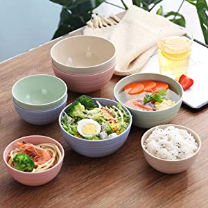 Tableware Wheat Edible Household Set Dishes Straw Bowl Salad Bowl