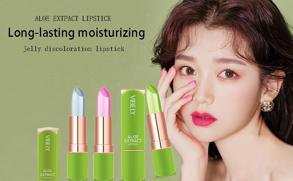 lip balm lipstick Aloe Vera Lipstick Lipstick for women set Long Lasting Nutritious Lip Balm