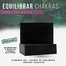 Jabón orgánico natural carbón activado, equilibrar activar chakras