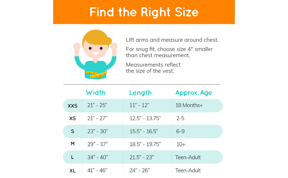 Weighted Vest for Kids and Adults