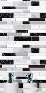 Peel and Stick Marble Tile