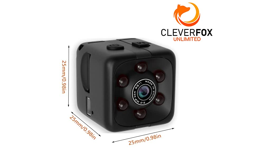 FOXEYE - Mini Spy Camera with Audio, Video, Motion Detection and Night Vision - Full 1080p